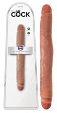 King Cock 12 páros dildó (30 cm) - natúr