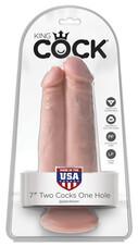 King Cock 7 - Két dildó egy lyukba (natúr)