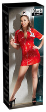 Black Level - lakk nővérke ruha jelmez (piros) [L]