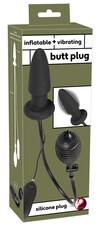 You2Toys - pumpálható anál tágító vibrátor (fekete)