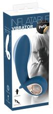 You2Toys Inflatable Petit - akkus, pumpálható, vízálló vibrátor (kék)