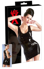 LATEX - ujjatlan miniruha (fekete) [S]