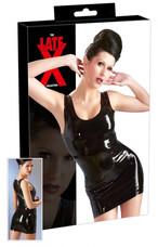 LATEX - ujjatlan miniruha (fekete) [XL]