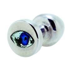 Diogol Anni Eye - kék köves análkúp - ezüst (2,5cm)