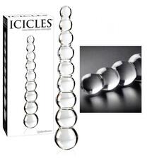 Icicles No. 2 - gömbös üvegdildó (áttetsző)