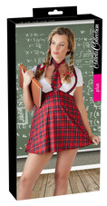 Cottelli Plus Size - szexi diáklány jelmez szett (2 részes) [L]