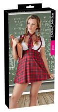 Cottelli Plus Size - szexi diáklány jelmez szett (2 részes) [4XL]