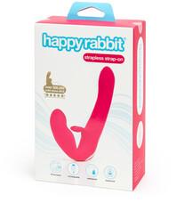 Happyrabbit Strapless - tartópánt nélküli felcsatolható vibrátor (pink)
