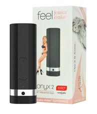 Kiiro Onyx 2 Jessica Drake Experience - akkus interaktív maszturbátor (fekete)