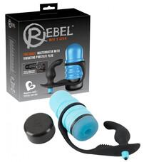 Rebel Surge - maszturbátor prosztatavibrátorral (kék)