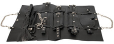 Bad Kitty - műbőr kötöző szett táskában (11 részes) - fekete