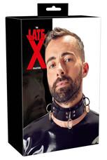 LATEX - latex, fém gyűrűs nyakörv (fekete)