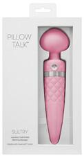 Pillow Talk Sultry - melegítős, dupla motoros masszírozó vibrátor (pink)
