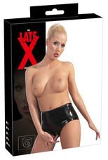 LATEX - női alsó hüvelykondommal (fekete) [XL]