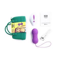 FEELZTOYS Twisty - akkus, rádiós, vízálló, forgó vibrációs tojás (lila)