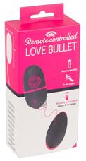 You2Toys Love Bullet - akkus, rádiós vibrációs tojás (fekete-pink)