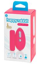 Happyrabbit One Size - akkus, rádiós vibrációs bugyi nyuszifarokkal (pink-fekete) [XL-2XL]