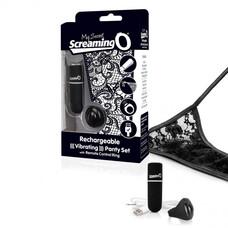 MySecret Screaming Panty - akkus, rádiós vibrációs tanga (fekete)