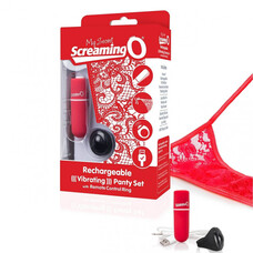 MySecret Screaming Panty - akkus, rádiós vibrációs tanga (piros)