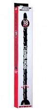 Hosed Swirl Thin Anal Snake 18 - csavart, tapadótalpas, hosszú, vékony anál dildó (fekete)