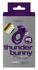 VeDo Thunder - akkus, nyuszis vibrációs here- és péniszgyűrű (lila)