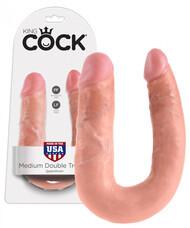 King Cock dupla dildó (közepes) - natúr