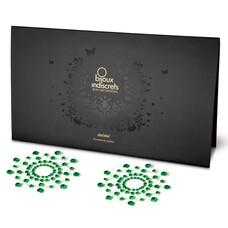 Csillogó gyémántok bimbómatrica (zöld)