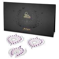 Csillogó gyémántok intim ékszer szett - 3 részes (pink-lila)