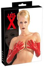 LATEX - hosszú, unisex kesztyű (piros) [M]