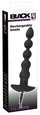 Black Velvet - akkus 5 gyöngyös anál vibrátor (fekete)