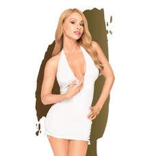 Penthouse Earth-shaker - nyakpántos, húzott ruha tangával (fehér) [L/XL]