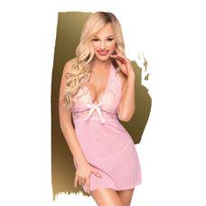 Penthouse Sweet & Spicy - nyakpántos, csipkés ruha tangával (pink) [M/L]
