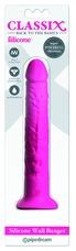 Classix - vízálló, péniszes, tapadótalpas vibrátor (pink)