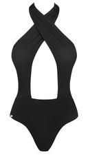 Obsessive Acantila - kivágott egyberészes fürdőruha (fekete) [L]