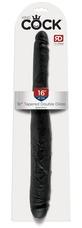 King Cock 16 Tapered - élethű dupla dildó (41cm) - fekete