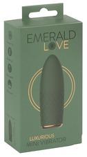 Emerald Love - akkus, vízálló mini vibrátor (zöld)