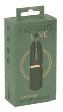 Emerald Love - akkus, vízálló csikló vibrátor (zöld)
