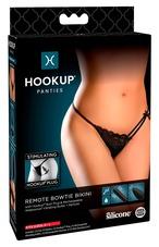 HOOKUP Bowtie Bikini - akkus vibrációs bugyi szett (fekete) [XL-XXL]