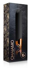Chaiamo - akkus, vízálló normál rúdvibrátor (fekete)