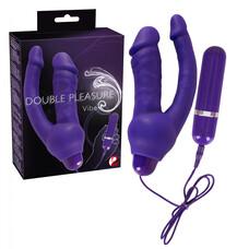 Double Pleasure - análkaros vibrátor (lila)