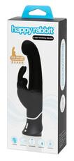 Happyrabbit G-spot - akkus, vízálló, csiklókaros bólogató vibrátor (fekete)