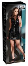 Black Level - cipzáros, lakk kabát ruha (fekete) [L]