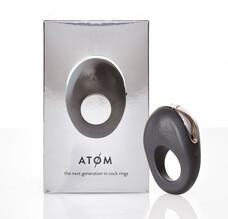 Hot Octopuss Atom - akkus, vibrációs péniszgyűrű (fekete)